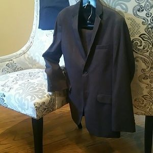 Beautiful large boys  charcoal gray suit